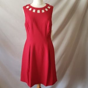 Red lined dress